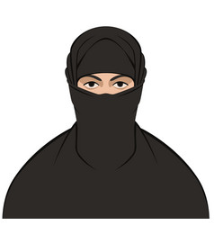 muslim veiled flat style vector image