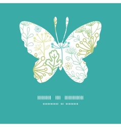 Mysterious green garden butterfly vector