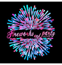 pattern with stylized fireworks and party vector image