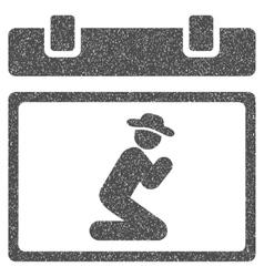 Pray Date Grainy Texture Icon vector
