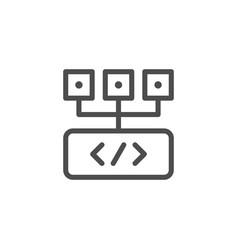 programming line icon vector image