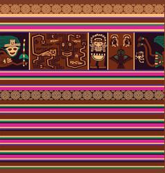seamless pattern with peruvian motif vector image