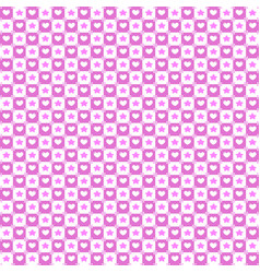 seamless texture with stars and hearts pattern vector image