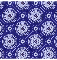 Seamlessly blue floral pattern vector
