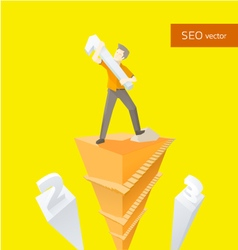 seo ladder vector image