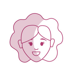 Silhouette woman head and face with hairstyle vector