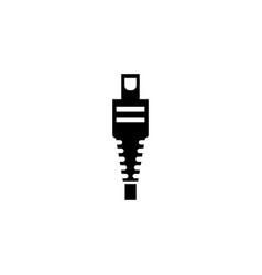 smartphone cable charger plug micro mini usb flat vector image