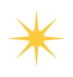 sparkling star icon vector image