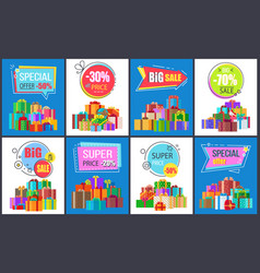 Special offer -50 big sale vector
