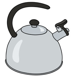 Stainless steel kettle vector