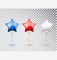 star balloons in national colors american vector image