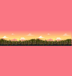 sunset mountains landscape panorama the vector image