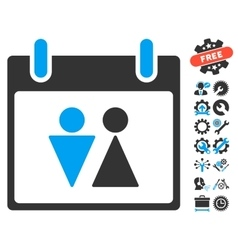 Toilet Calendar Day Icon With Bonus vector