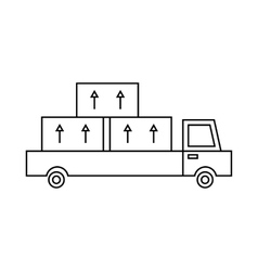 Truck icon outline style vector image