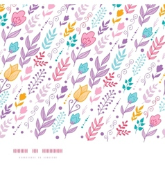 Tulip field flowers horizontal seamless pattern vector image