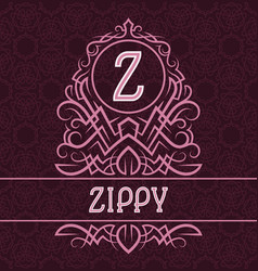 vintage label design template for zippy product vector image