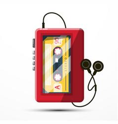 walkman symbol retro music player with audio vector image