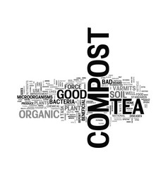 what is compost tea text word cloud concept vector image