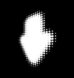 white halftone arrow in perspective logo design vector image