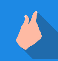 Zoom in gesture icon in flat style isolated on vector