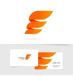Abstract wing logo template design isolated vector image