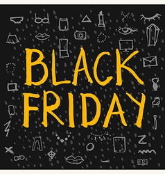 Black Friday lettering colour vector image vector image