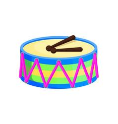 Drum toys with sticks santa vector