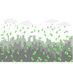 random grey city skyline on light background with vector image vector image