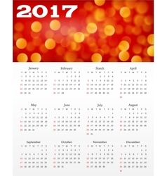 calendar with abstract red background vector image vector image