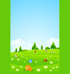 easter holiday background vector image