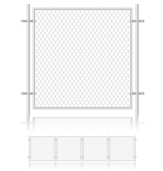 fence made of wire mesh 01 vector image