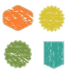 Clear mockup logo badge set retro labels shabby vector image vector image