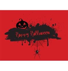 Grunge Halloween background vector image