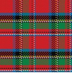seamless pattern Scottish tartan Royal Stewart vector image