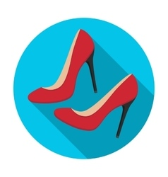 Shoes with stiletto heel icon in flat style vector image vector image