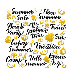 summer time handwritten lettering vector image vector image