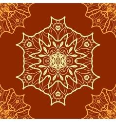 Vintage pattern seamless Hand drawn vector image