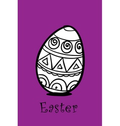 egg on violet vector image vector image