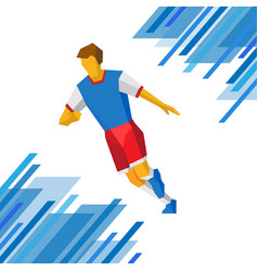 football player in red and blue colors vector image