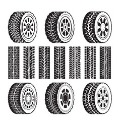 racing wheels and their protector shapes vector image