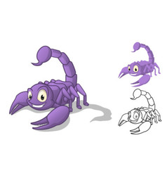 Scorpion Cartoon Character vector image vector image