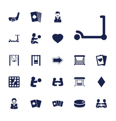 22 playing icons vector