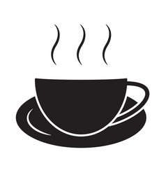 A cup hot coffee cafe or caffeine drink flat vector