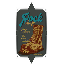 a rock boot vector image