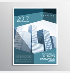 Abstract business leaflet or brochure template vector