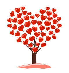 abstract drawing of tree with heart vector image