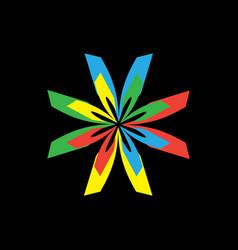abstract star symbol vector image