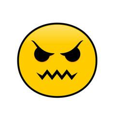 Angryticon angry emotion symbol design vector