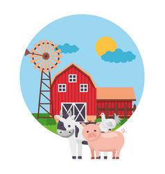 animal barn farm fresh vector image