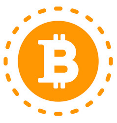 Bitcoin coin flat icon vector